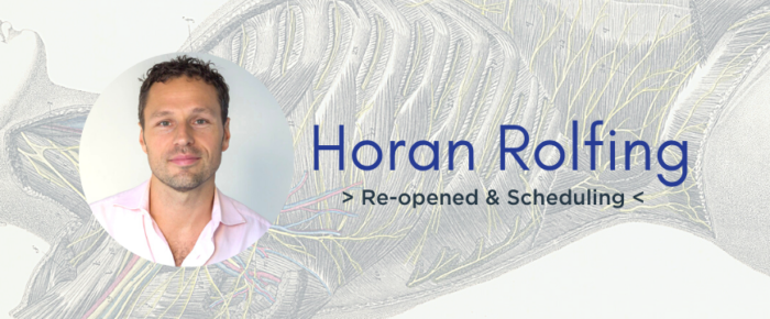 Now Scheduling: Horan Rolfing Reopens After COVID-19 Lockdown