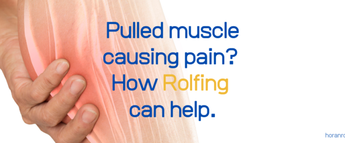 What can Rolfing do for a pulled muscle?